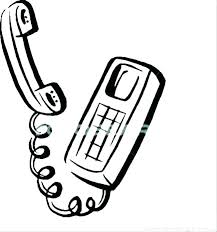 Cell Phone Coloring Pages Page Telephone Free Wakacyjnie Info