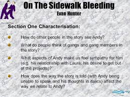 on the sidewalk bleeding essay