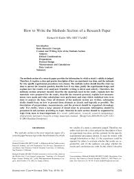 writing the methods section of a research paper writing the methods section of a research paper tk