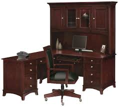 corner l shaped office desk with hutch black and cherry black accent color white desk chairs
