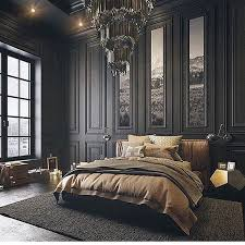 Dark grey tones with the golden hues of the bedding brings sophistication  to the decor of  Luxury Bedroom ...