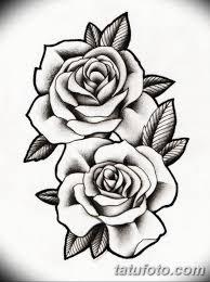 эскиз розы для тату девушке 08032019 001 Tattoo Sketches
