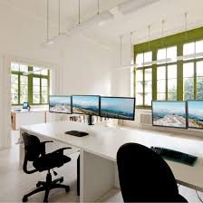 interior office with furniture computer