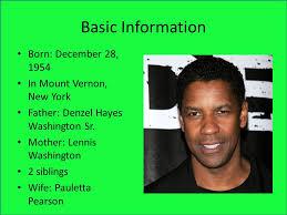 Image result for actor Denzel Washington is born in Mount Vernon, New York.