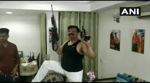 Uttarakhand Suspended Bjp Mla Seen Dancing With Guns In Video