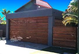 stylish slatted cedar door and fencing
