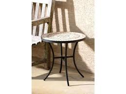 round outdoor side table suncast elements resin with storage