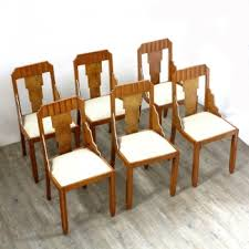 furniture art deco style. French Art Deco Style Chairs, Set Of 6, 1930s Furniture