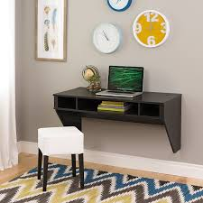 office floating desk small. Amazon.com: Wall Mounted Designer Floating Desk In Washed Ebony: Kitchen \u0026 Dining Office Small .