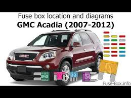 gmc acadia fuse box location manual e book fuse box location and diagrams gmc acadia 2007 2012 gmc acadia fuse box location