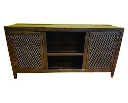 Living Room Media Cabinet 002 Vintage Industrial Media Console Cabinet Living Room