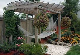 Download pergola decorating ideas with hanging plants and climbing plants  and hammock ...