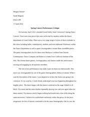 concert critique essays dance critique essay kottgabrielle  dance critique essay kott gabrielle springconcertcritique pages concert critique dance
