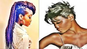 Black Hairstyles Mohawks Short Mohawk Hairstyles For Black Women Youtube