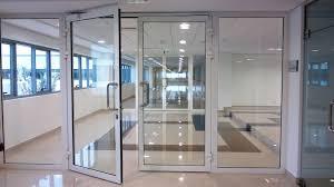 clear overhead door double gl aluminium windows commercial doors