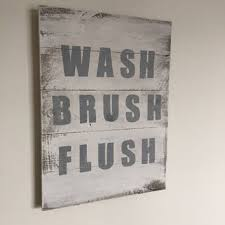 Best Bathroom Sign To Flush Products on Wanelo