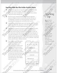 Pocket Chart Meaning File Folder Pocket Chart Phonics Poems Beginning Sounds
