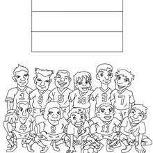 Small Picture SOCCER TEAMS coloring pages Coloring pages Printable Coloring