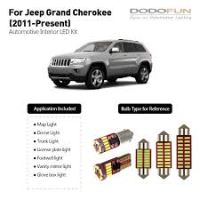 2017 Jeep Cherokee License Plate Light Amazon Com Dodofun Interior Led Light Kit Package For 2011