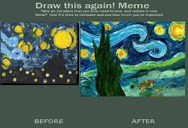 Starry Night Improvement meme by bronzebug on DeviantArt via Relatably.com