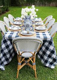 french bistro chairs toronto. french bistro chairs + buffalo check tablecloth make for a beautiful blue and white setting toronto o