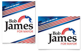 campaign poster templates free political campaign poster template design