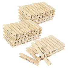 100 Pack - Wooden Clothespins - Large Clothes Pegs for Laundry, Arts,  Crafts,