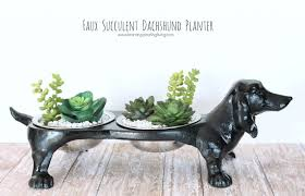 synthetic dachshund planter