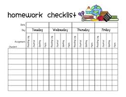 Daily Word Problem Labels Homework Checklist Homework