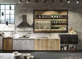 industrial kitchen furniture. Kitchen Industrial Concrete Waxed Idea Wood Furniture Luminaire Suspension