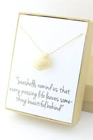 sympathy gifts gold seas necklace