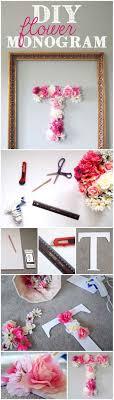 diy flower monogram diy projects for teens bedroom