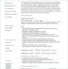 Resume Template For Restaurant Manager Resume Templates Restaurant ...