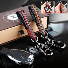 details about mens leather key chain ring holder keyfob car keyring keychain pendant gifts car