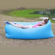 inflatable lounge furniture. LoungeSak Hangout Lambzac Kaisr Chilling Spot Woohoo Nylon Travel Outdoor Sofa Lake Side Lounge Blue Inflatable Furniture T