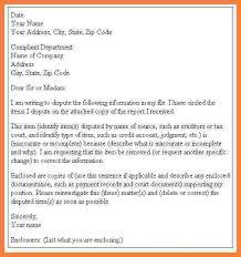 sample letter for credit report dispute creditdisputeletter