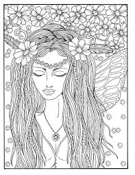 fairy color pages 5 pages fairies digital downloads instant coloring pages fairy hair