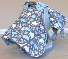 Boy Carseat Canopy Cover Car Seat Tent Blanket DMA Homes