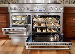 Double Oven Kitchen Design Gourmet Stoves And Ovens Team Let Us Loose In The Cooking Center