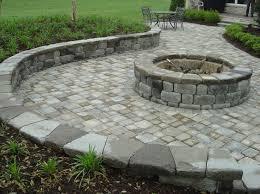 round garden pavers firepit patio ideas