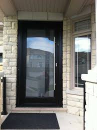 doors exterior doors with glass entry doors with sidelights black framed full glass entry door