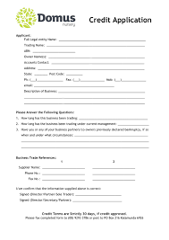 account application form template. Free Business Credit Application Form Template South Africa