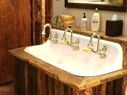trough sink for bathrooms bathroom kohler farmhouse undermount bathroom trough sink double sink trough