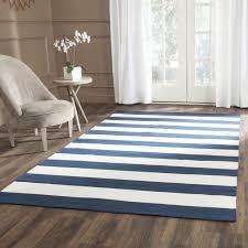 room flat weave cotton area rugs roselawnlutheran navy ivory stripe pattern safavieh hand woven oriental weavers