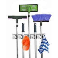 Kitchen Wall Racks And Storage Home Mop Broom Holder Wall Mount Garden Tool Storage Tool Rack