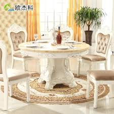 white marble round dining table continental combination of solid wood dining tables and chairs round table white marble round dining table