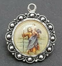 marcasite st christopher pendant