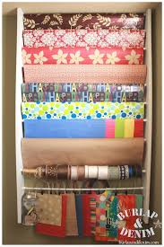 wrapping paper storage station