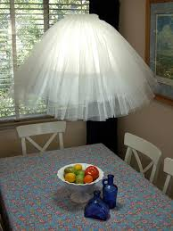 view in gallery diy tulle pendant lamp