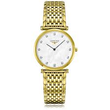 mens longines watches the watch gallery longines la grande classique quartz gold plated mother of pearl dial unisex watch l45122878